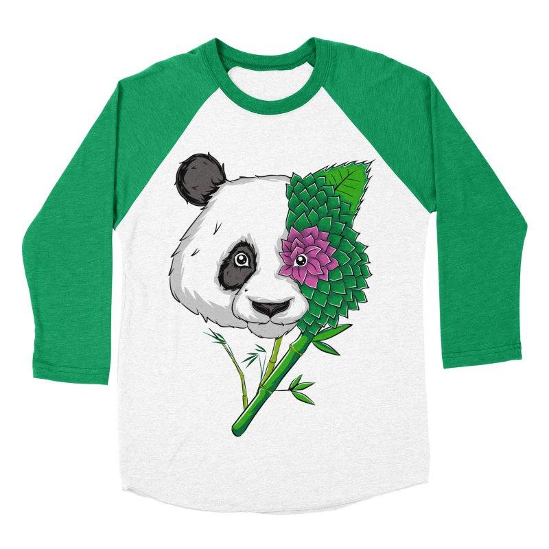 Oso panda -flower Men's Baseball Triblend T-Shirt by damian's Artist Shop