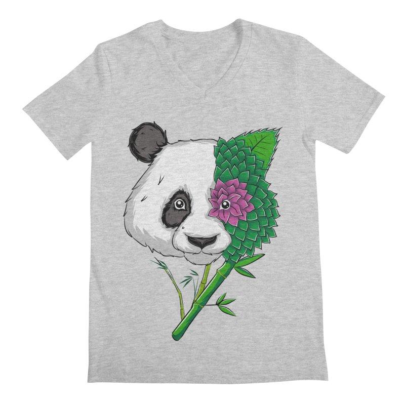 Oso panda -flower Men's V-Neck by damian's Artist Shop