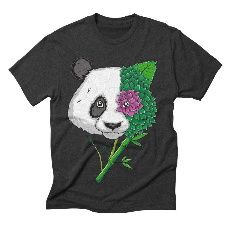 Oso panda -flower Men's Triblend T-shirt by damian's Artist Shop