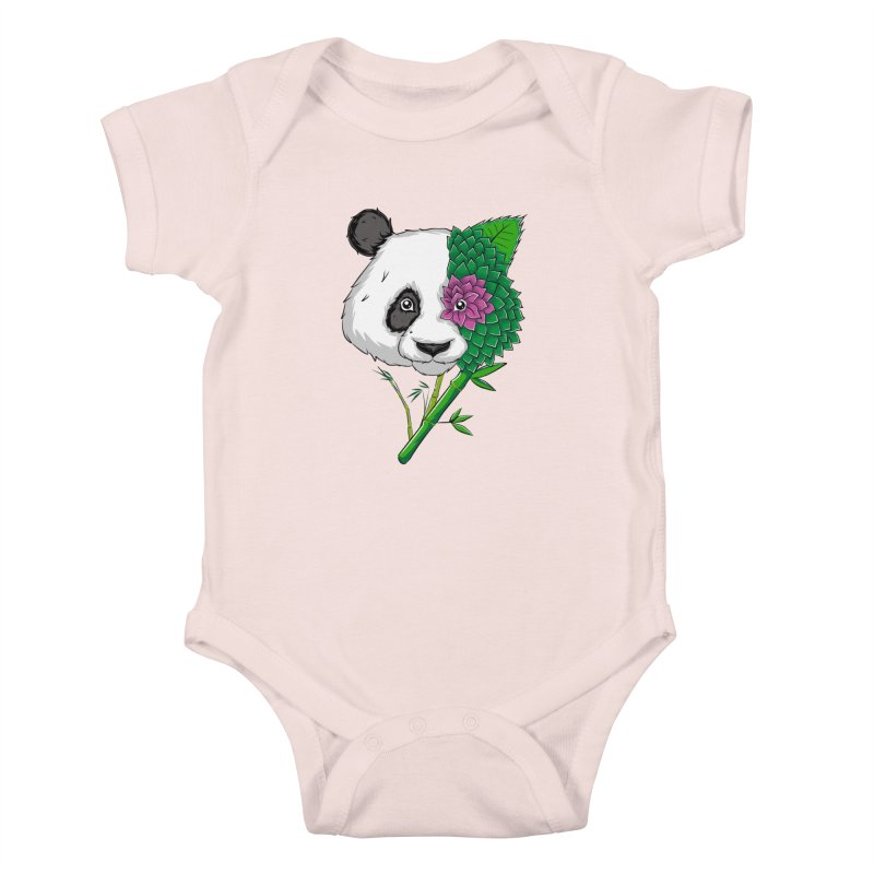 Oso panda -flower Kids Baby Bodysuit by damian's Artist Shop