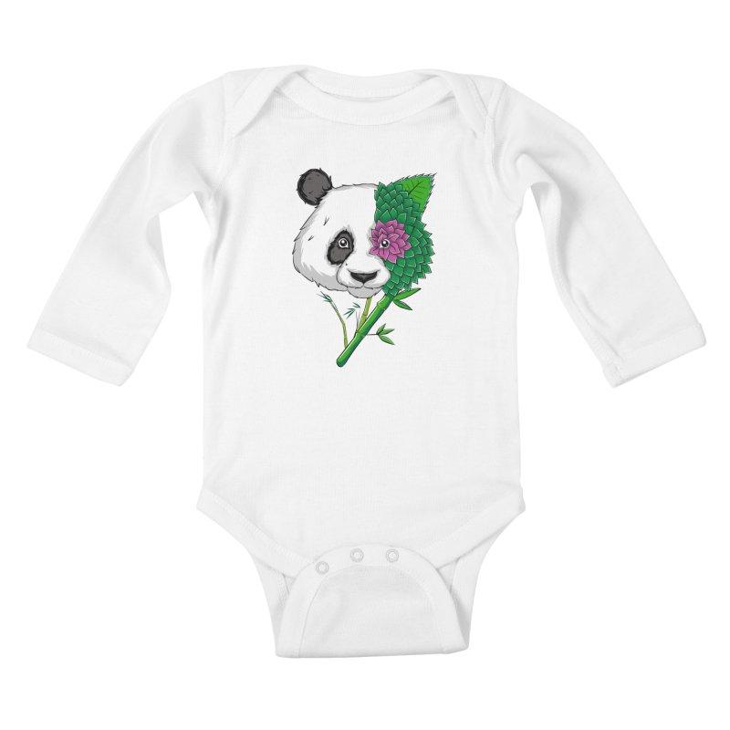 Oso panda -flower Kids Baby Longsleeve Bodysuit by damian's Artist Shop