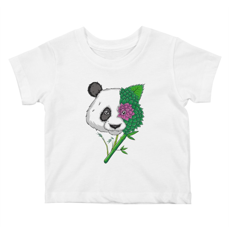 Oso panda -flower Kids Baby T-Shirt by damian's Artist Shop