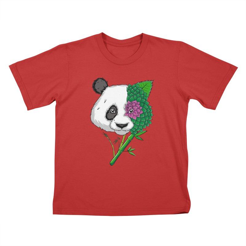 Oso panda -flower Kids T-shirt by damian's Artist Shop