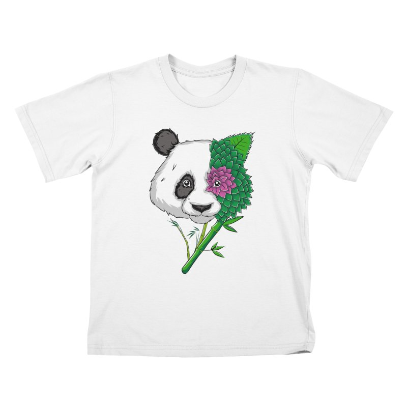 Oso panda -flower Kids T-Shirt by damian's Artist Shop