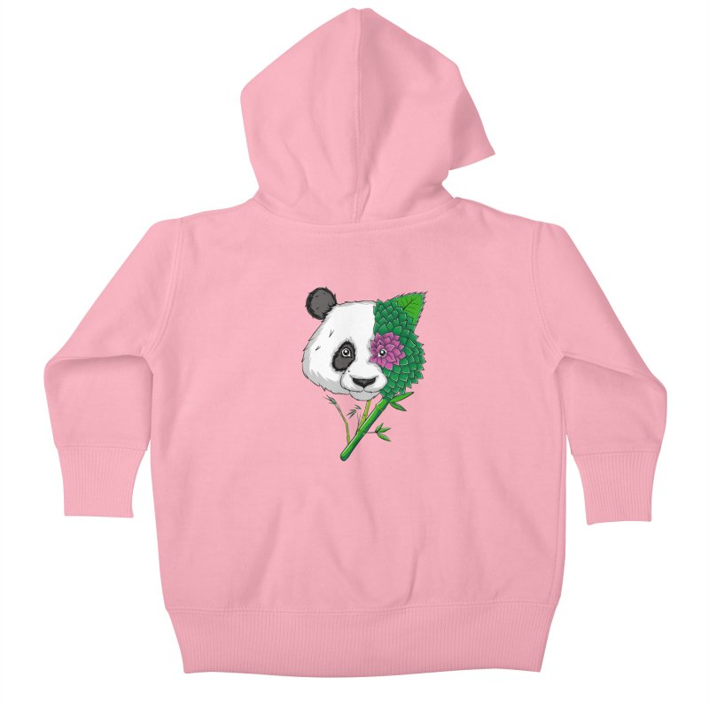 Oso panda -flower Kids Baby Zip-Up Hoody by damian's Artist Shop