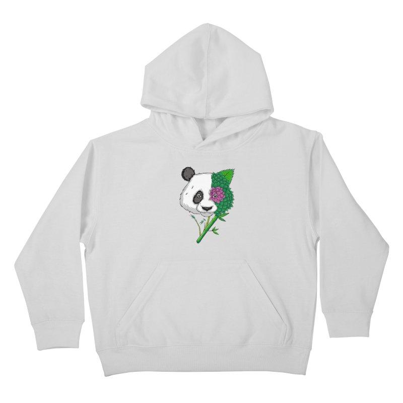 Oso panda -flower Kids Pullover Hoody by damian's Artist Shop