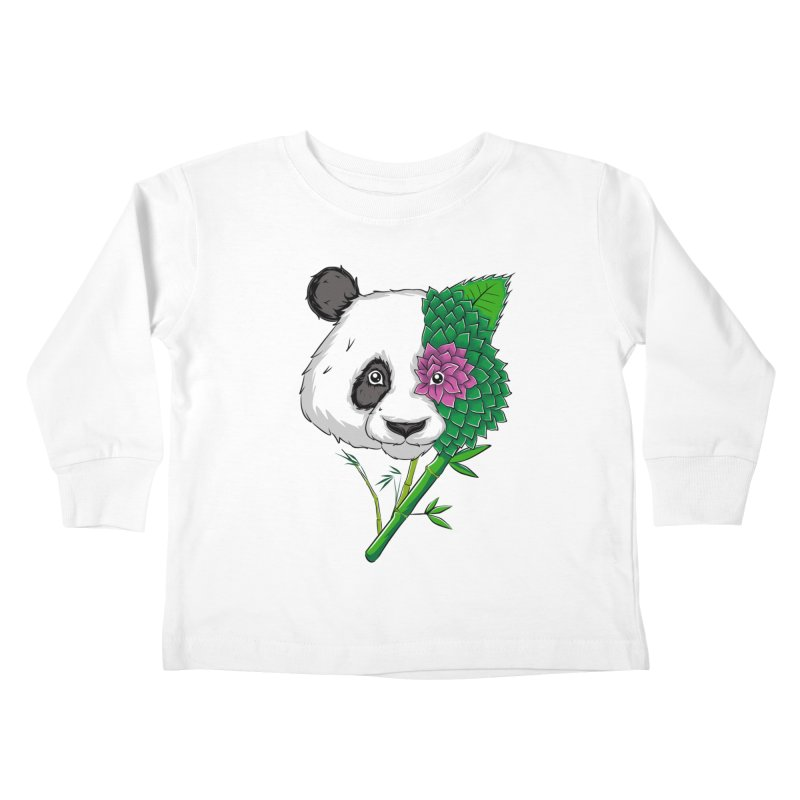 Oso panda -flower Kids Toddler Longsleeve T-Shirt by damian's Artist Shop