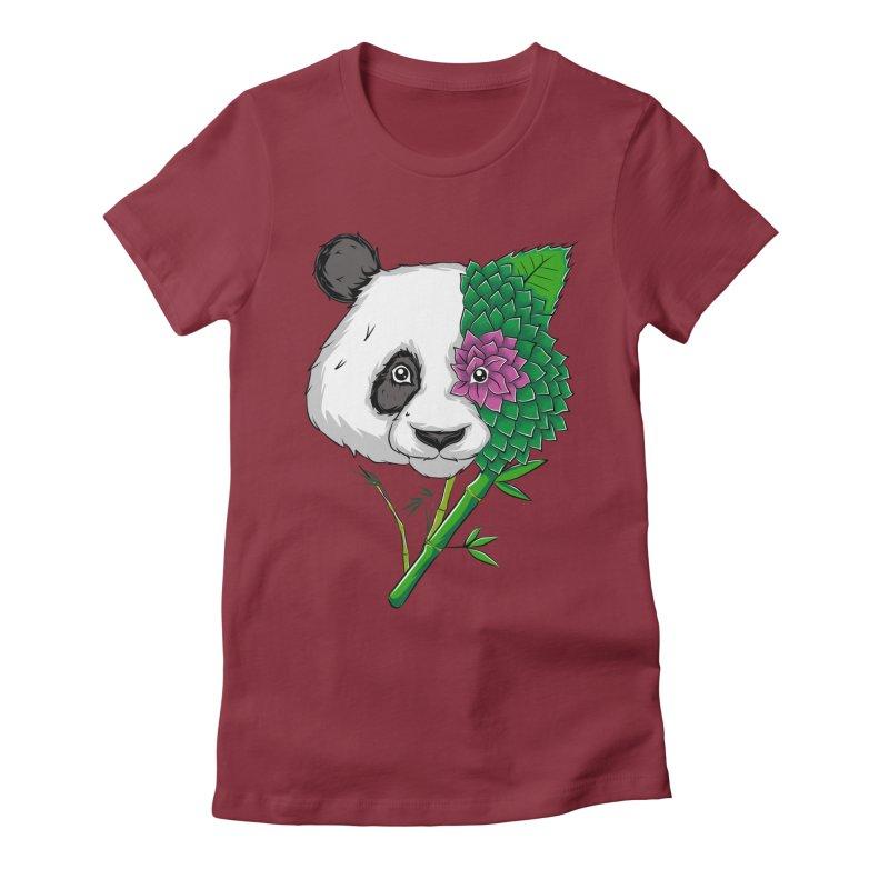 Oso panda -flower Women's Fitted T-Shirt by damian's Artist Shop