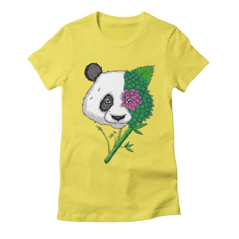 Oso panda -flower Women's Fitted T-Shirt by damian's Artist Shop