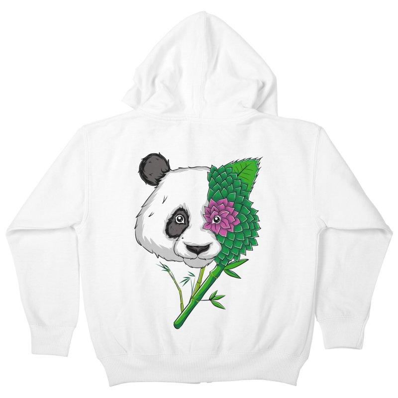 Oso panda -flower Kids Zip-Up Hoody by damian's Artist Shop