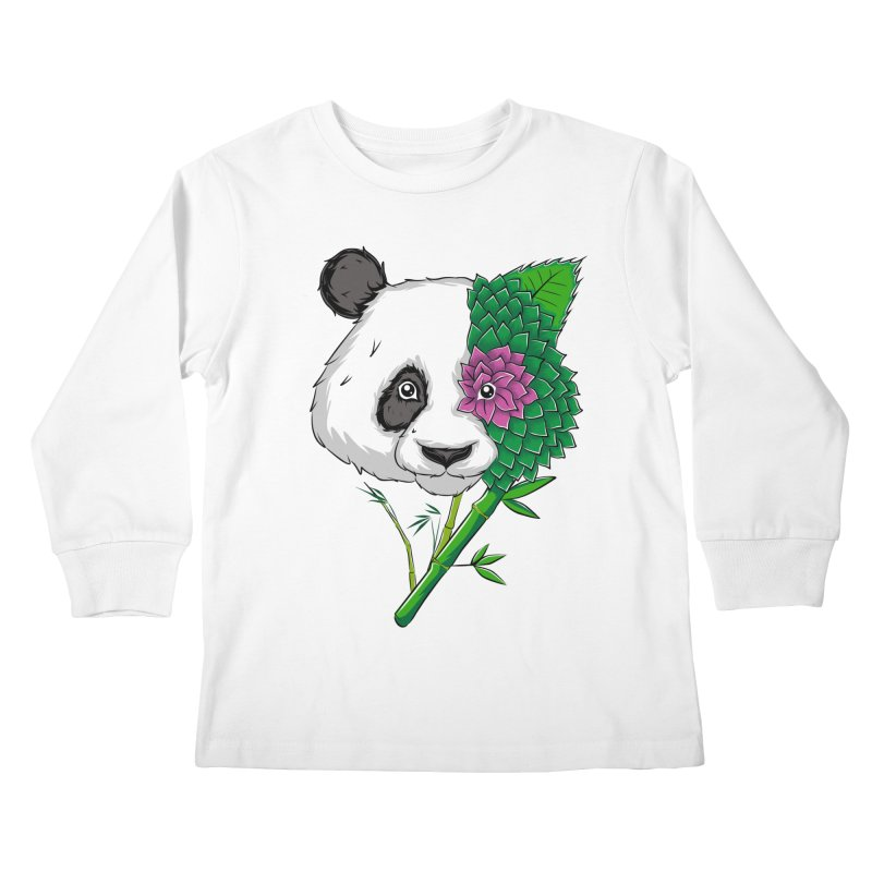 Oso panda -flower Kids Longsleeve T-Shirt by damian's Artist Shop