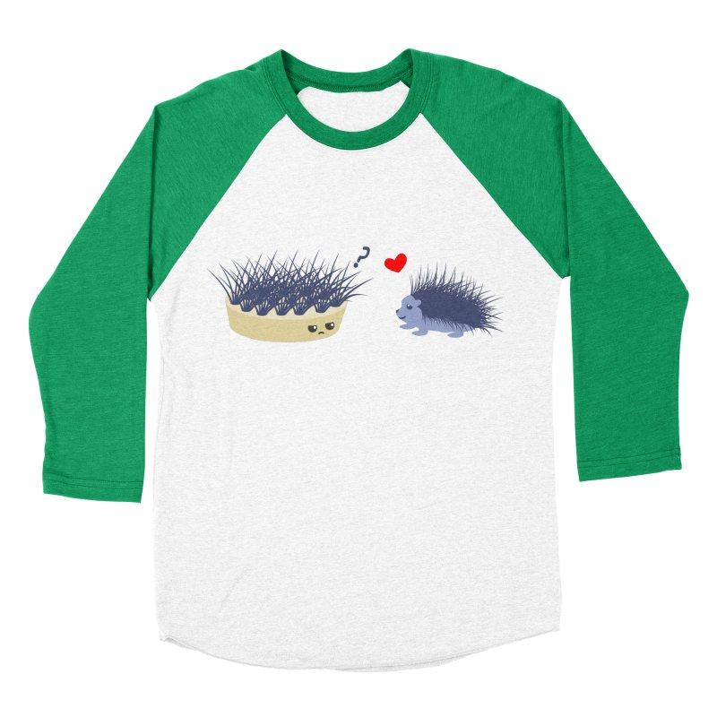 LOVE AT FIRST SIGHT Men's Baseball Triblend T-Shirt by damian's Artist Shop