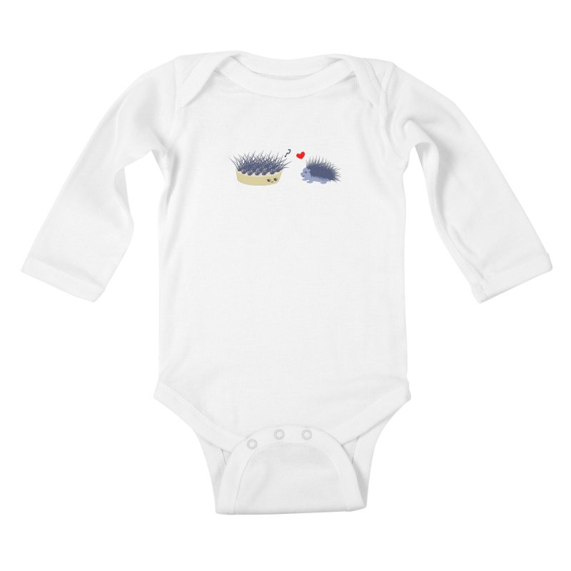 LOVE AT FIRST SIGHT Kids Baby Longsleeve Bodysuit by damian's Artist Shop