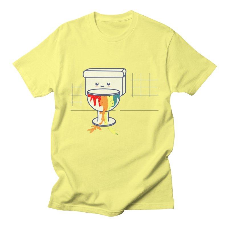 Retrete -rainbow- in Men's Regular T-Shirt Lemon by damian's Artist Shop