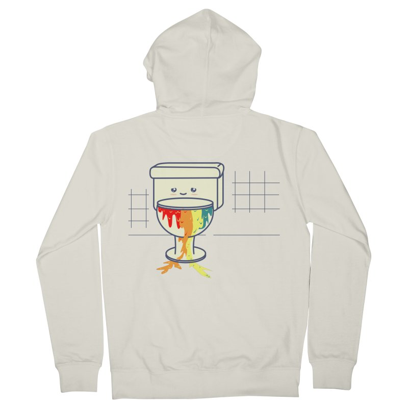 Retrete -rainbow- Men's Zip-Up Hoody by damian's Artist Shop