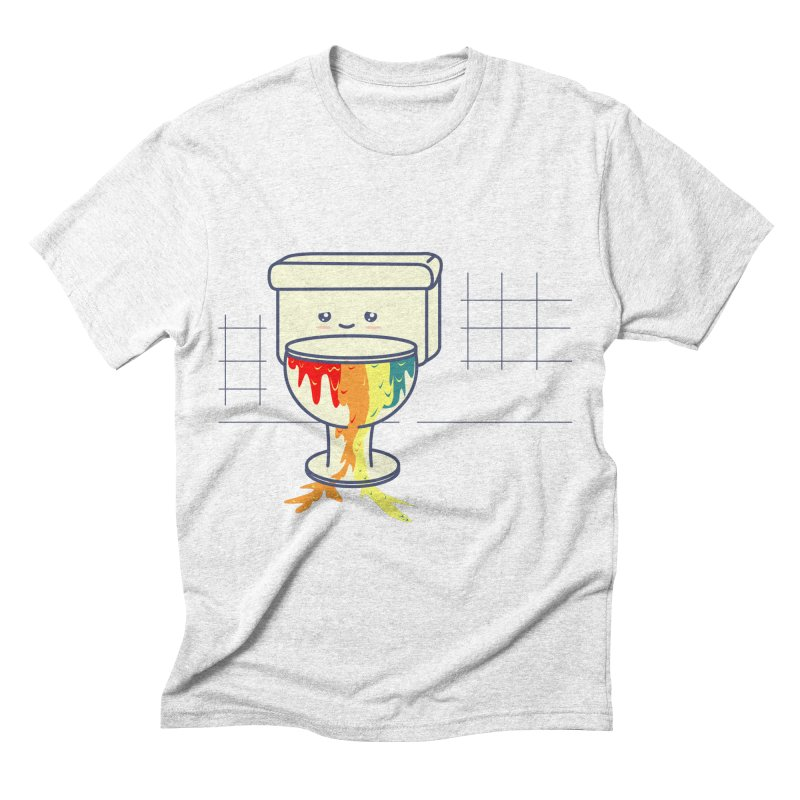 Retrete -rainbow- Men's Triblend T-shirt by damian's Artist Shop