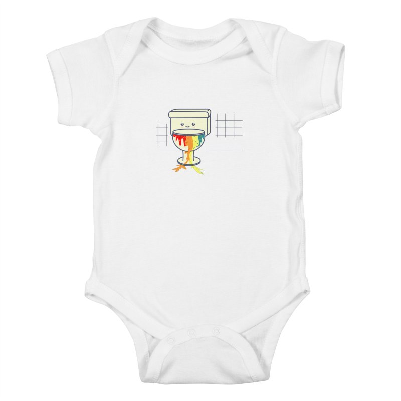 Retrete -rainbow- Kids Baby Bodysuit by damian's Artist Shop