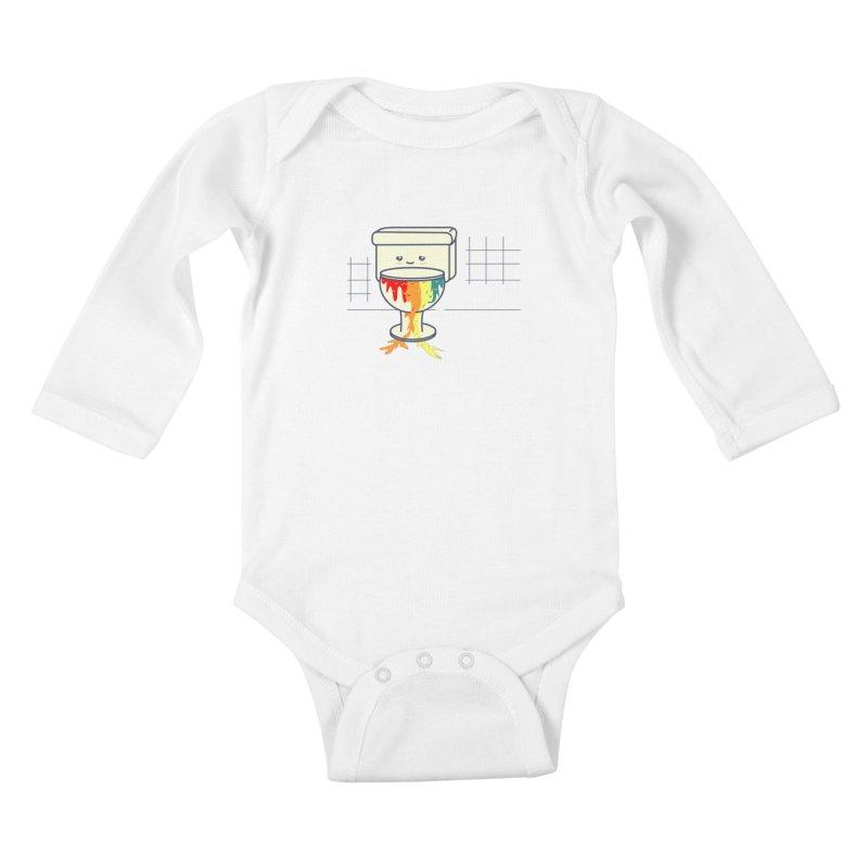 Retrete -rainbow- Kids Baby Longsleeve Bodysuit by damian's Artist Shop