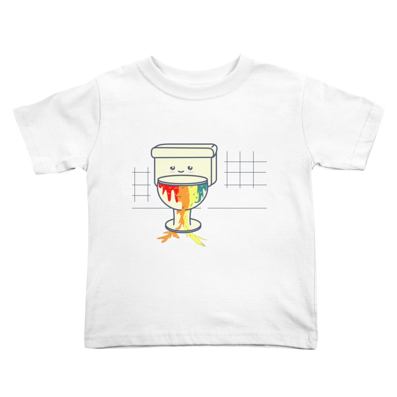 Retrete -rainbow- Kids Toddler T-Shirt by damian's Artist Shop