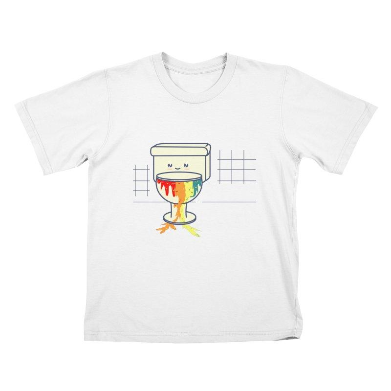 Retrete -rainbow- Kids T-shirt by damian's Artist Shop