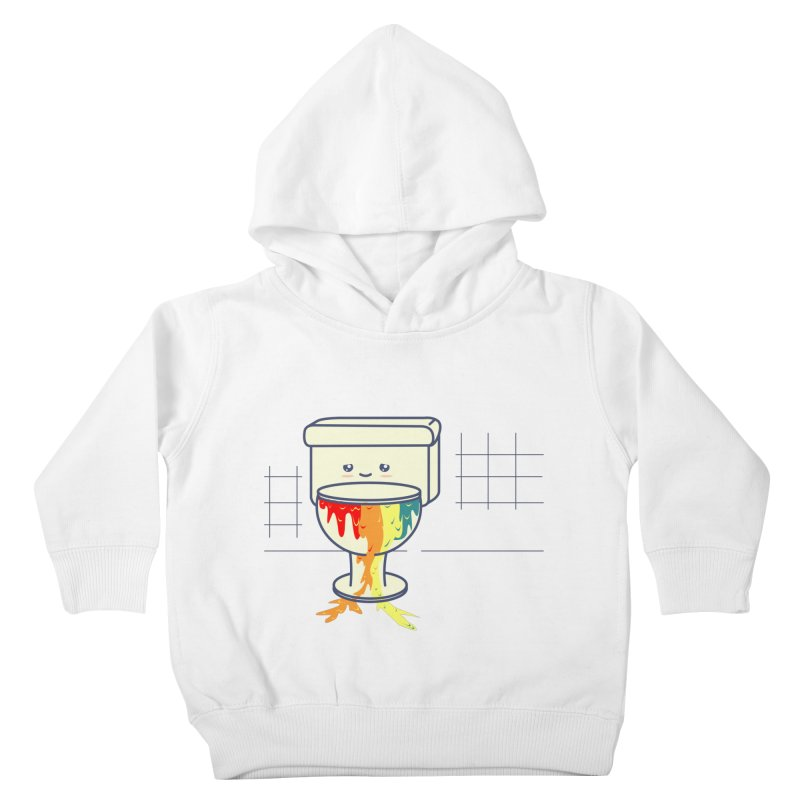 Retrete -rainbow- Kids Toddler Pullover Hoody by damian's Artist Shop