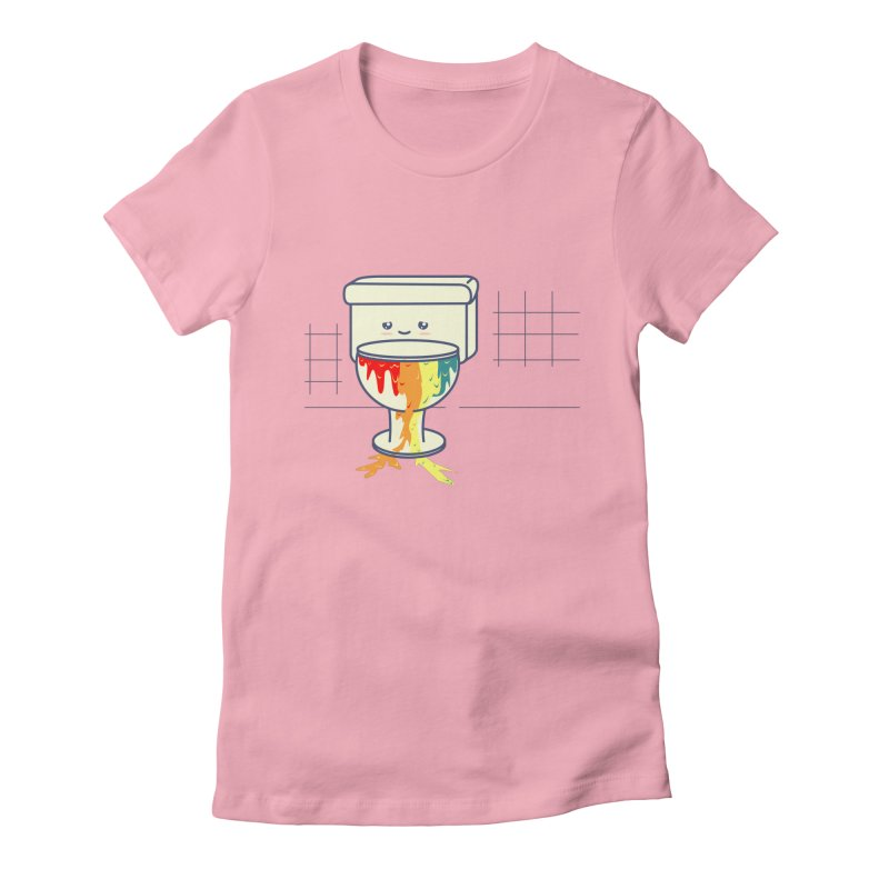Retrete -rainbow- Women's Fitted T-Shirt by damian's Artist Shop