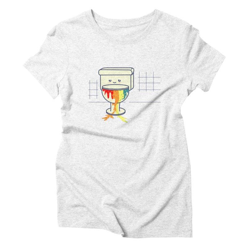 Retrete -rainbow- Women's Triblend T-shirt by damian's Artist Shop
