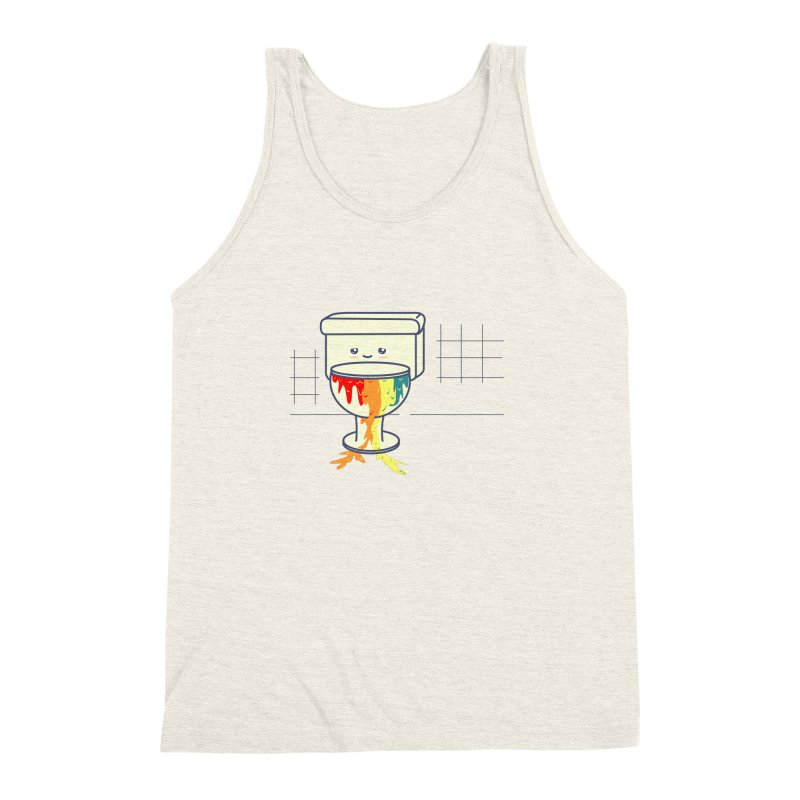 Retrete -rainbow- Men's Triblend Tank by damian's Artist Shop
