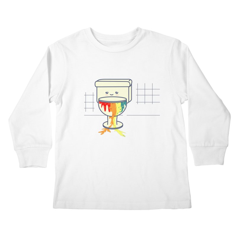 Retrete -rainbow- Kids Longsleeve T-Shirt by damian's Artist Shop