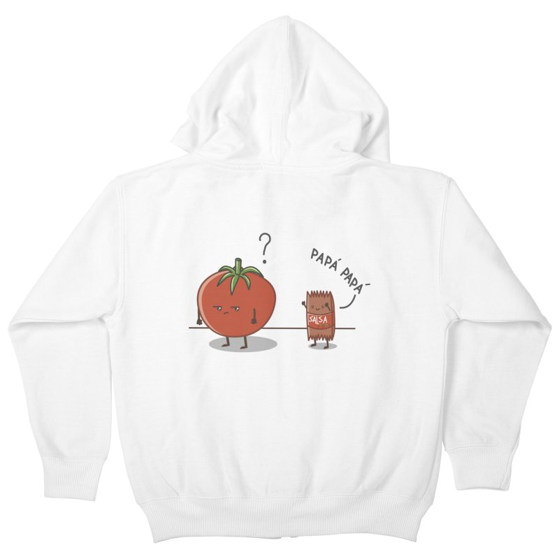 Daddy-DaD Kids Zip-Up Hoody by damian's Artist Shop