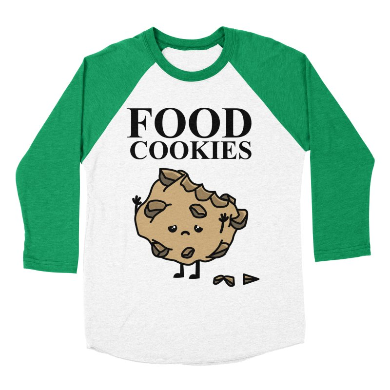 FOOD Cookies Women's Baseball Triblend T-Shirt by damian's Artist Shop