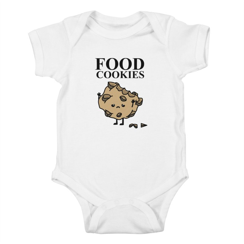 FOOD Cookies Kids Baby Bodysuit by damian's Artist Shop