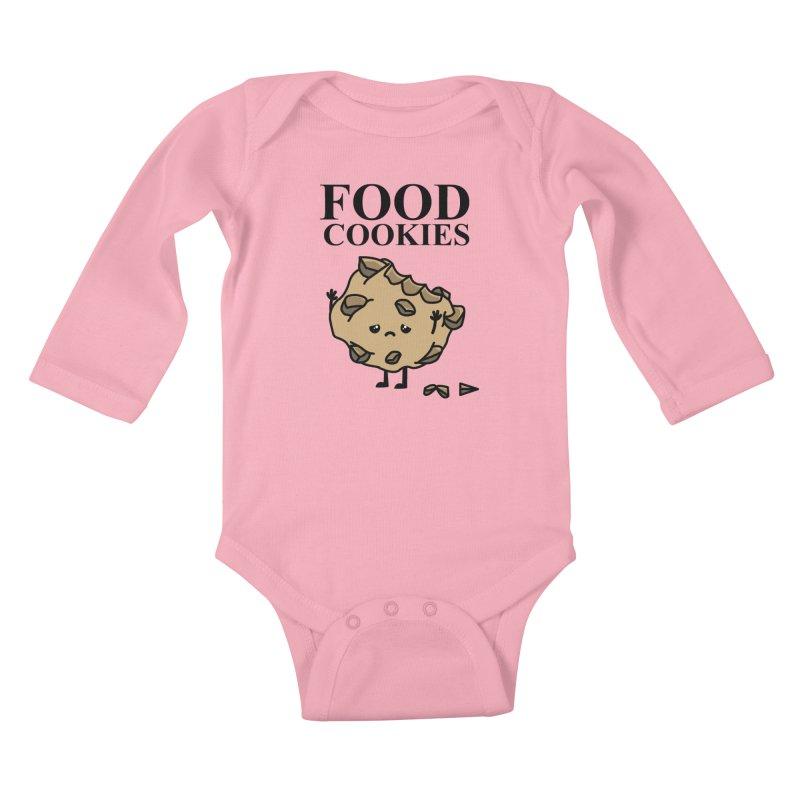 FOOD Cookies Kids Baby Longsleeve Bodysuit by damian's Artist Shop