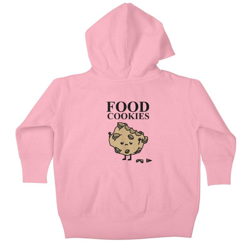 FOOD Cookies Kids Baby Zip-Up Hoody by damian's Artist Shop