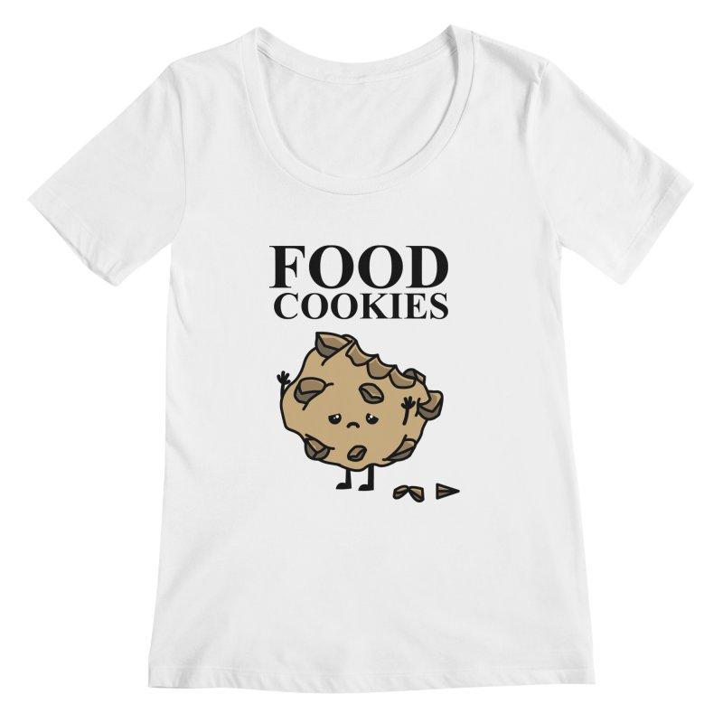 FOOD Cookies Women's Scoopneck by damian's Artist Shop