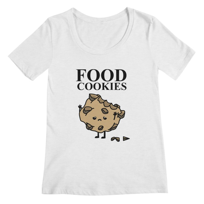 FOOD Cookies Women's Scoopneck by damian's Artist Shop