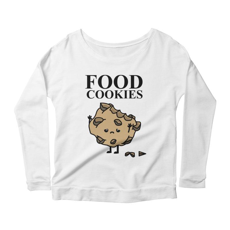 FOOD Cookies Women's Longsleeve Scoopneck  by damian's Artist Shop