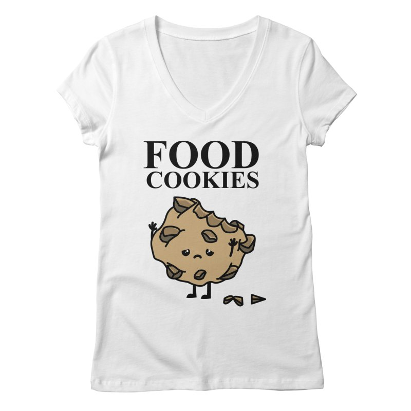 FOOD Cookies Women's V-Neck by damian's Artist Shop