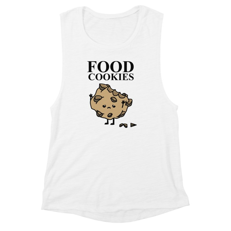 FOOD Cookies Women's Muscle Tank by damian's Artist Shop