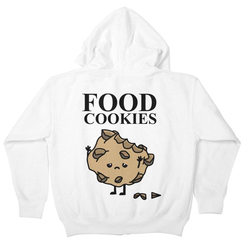 FOOD Cookies Kids Zip-Up Hoody by damian's Artist Shop