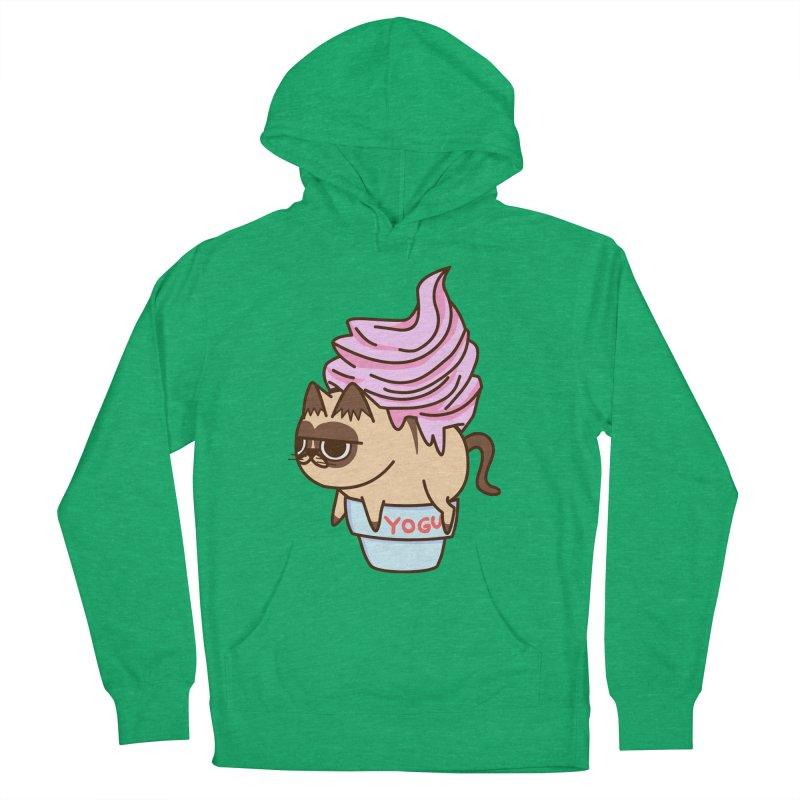 Yogur cat Women's Pullover Hoody by damian's Artist Shop