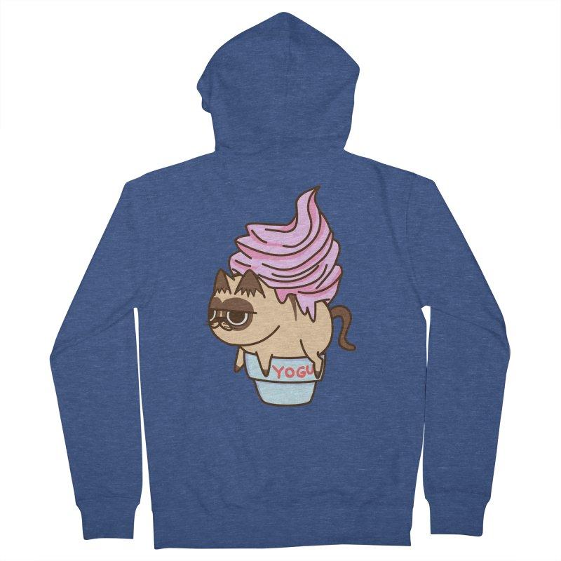 Yogur cat Women's Zip-Up Hoody by damian's Artist Shop