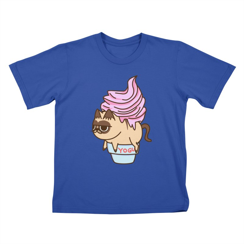 Yogur cat Kids T-shirt by damian's Artist Shop