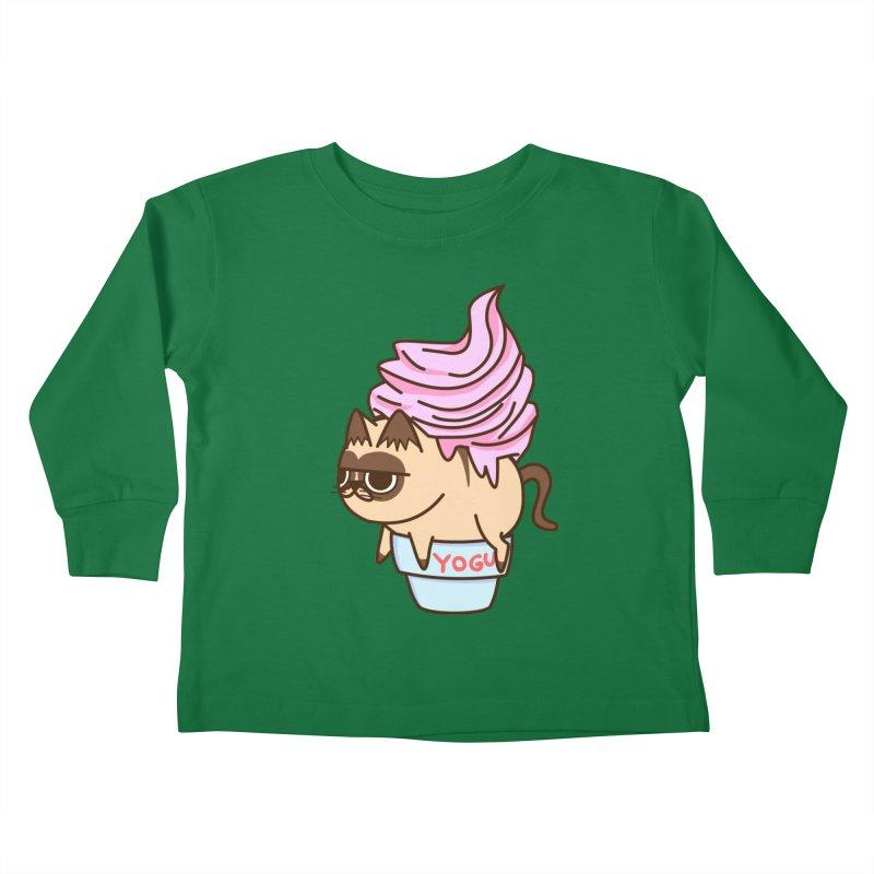 Yogur cat Kids Toddler Longsleeve T-Shirt by damian's Artist Shop