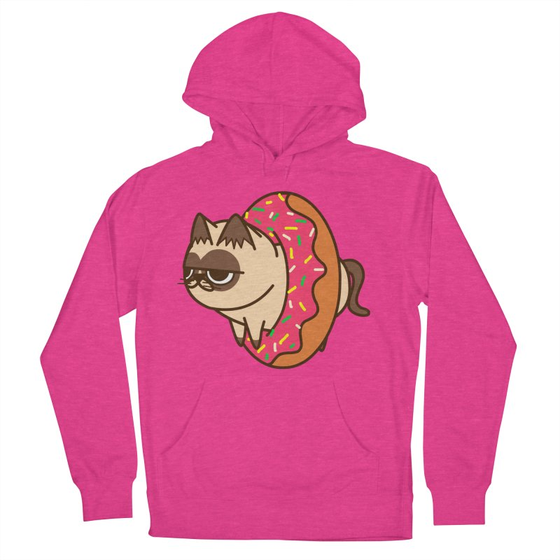 donuts  cat Women's Pullover Hoody by damian's Artist Shop