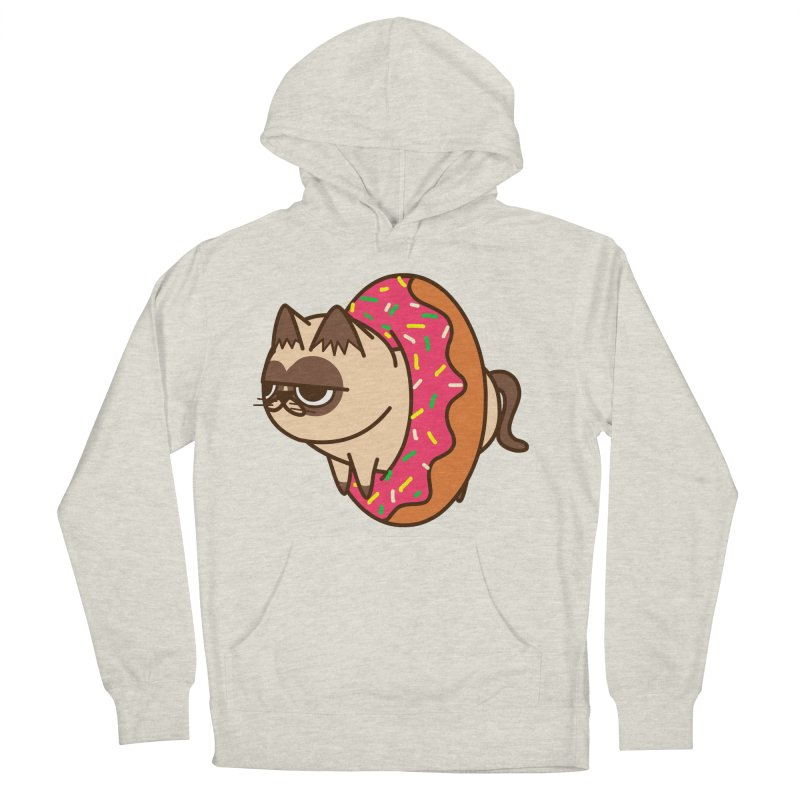 donuts  cat Men's Pullover Hoody by damian's Artist Shop