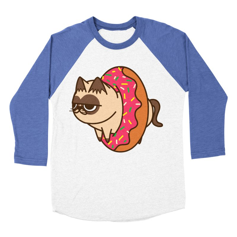 donuts  cat Women's Baseball Triblend Longsleeve T-Shirt by damian's Artist Shop