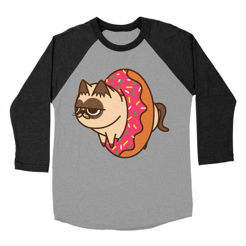 donuts  cat Women's Baseball Triblend Longsleeve T-Shirt by damian's Artist Shop