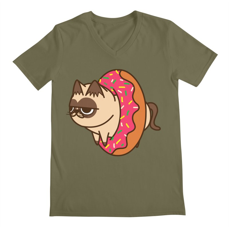 donuts  cat Men's V-Neck by damian's Artist Shop