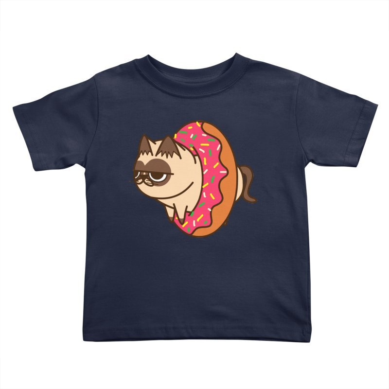 donuts  cat Kids Toddler T-Shirt by damian's Artist Shop